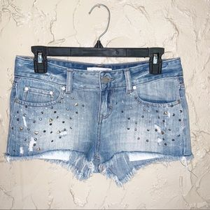 Pink Victoria's Secret  Embellished Jean Shorts 0